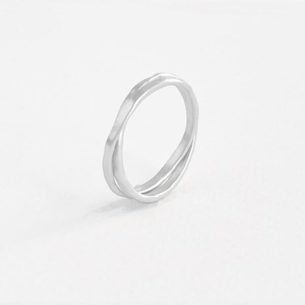 sophie twin ring silver