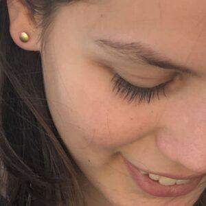 tinny twins earrings gold lady