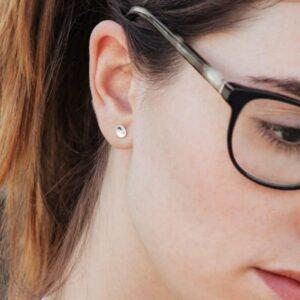 tinny twins earrings silver lady