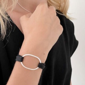 Justine Colour bracelet silver black lady