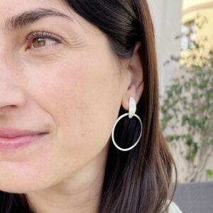 Justine Suay Earrings Silver Lady