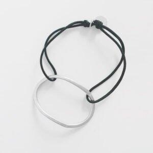 Justine nylon Bracelet silver