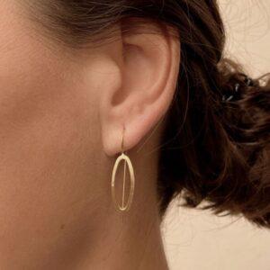 Marine M hippies earrings gold lady