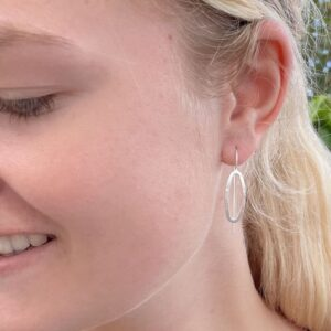 Marine M hippies earrings silver lady